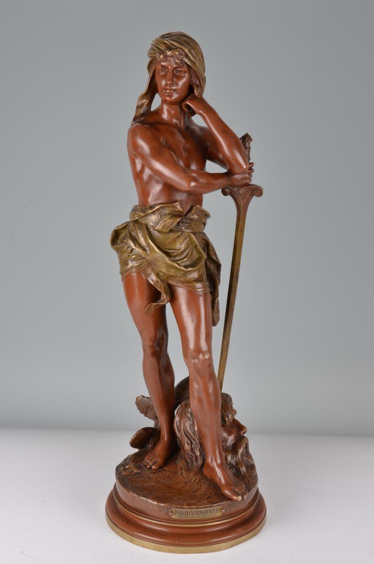 Henri Ple Bronze David & Goliath.
