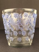 R. Lalique ice bucket, with a blue patina.