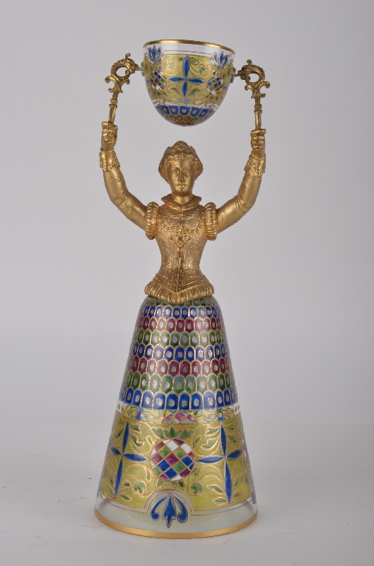 A wedding cup, attributed to Fritz Heckert (1868-1923).