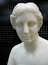ANTIQUE MARBLE BUST OF