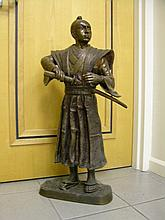 J.Moignier bronze sculpture of a Sumari.