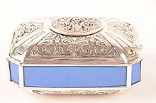 Sterling silver mechanical singing bird box.