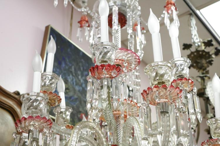 12 Lights French Baccarat Crystal Chandelier