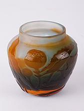 Three Color Art Nouveau Vase