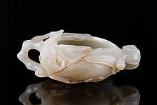 18/19th C. Chinese Jade Carved Washer