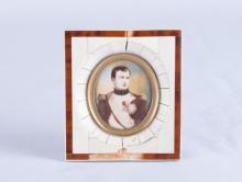 Enamel Painting of Napoleon w/ Frame