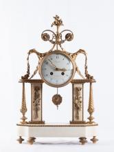 19th French Dore Bronze Console Clock
