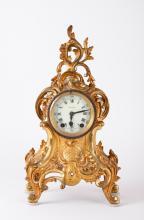 19th C. French Dore Bronze Clock