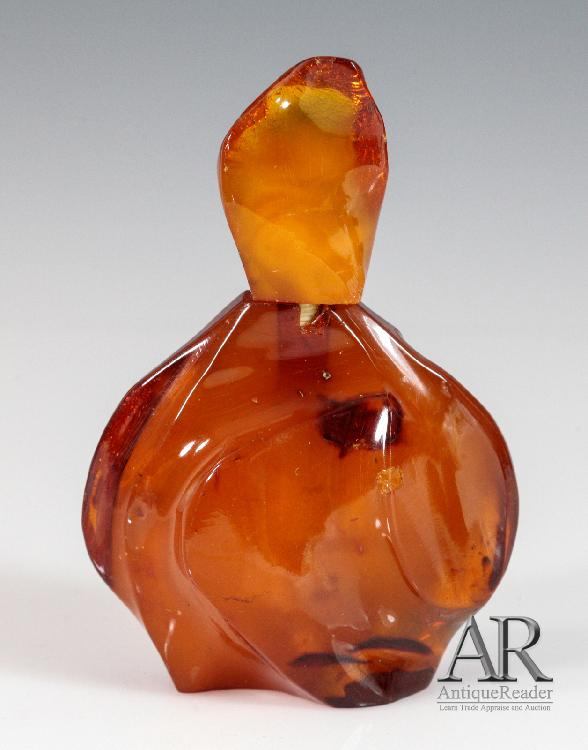 Amber Perfumer Bottle and Stopper