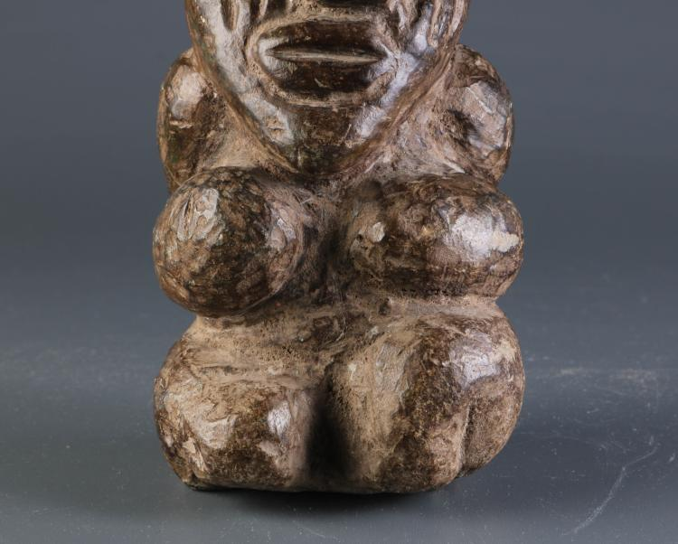 African stone carving of a boy