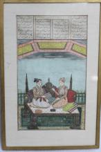Indian Miniature on Paper w/ Frame