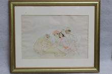 Persian Miniature on Paper, Signed
