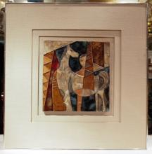 Pottery Tile Painting, Signed