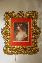 KPM Porcelain Plaque w/ Gilt Leaf Frame