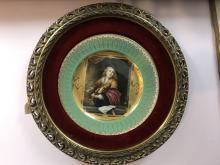 Porcelain Plaque w/ Gilt Wood Frame