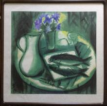 Chinese Painting with Frame, Lin  Fengmian
