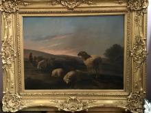 Oil on Canvas w/ Gilt Wood Frame