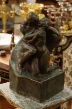 European Bronze Lover, Signed