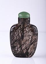 18th C. Hair Crystal Snuff Bottle