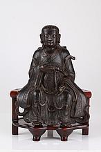 Ming Dynasty Bronze Figure of Zheng Wu Da Di
