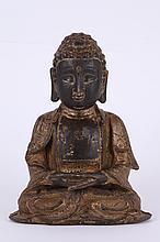 Chinese Gilt Bronze Figure of Seating Buddha