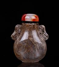 Chinese Hair Crystal Snuff Bottle