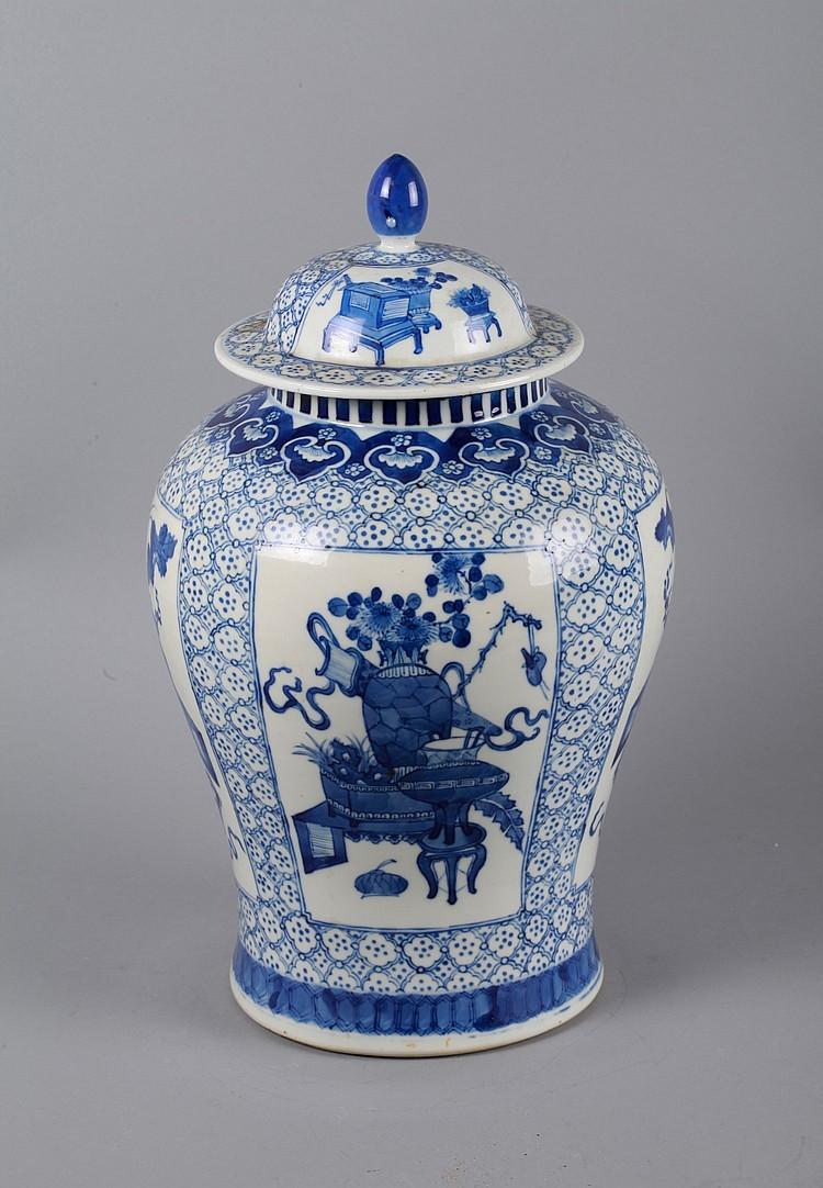 qing dynasty blue white ginger jar mark on base. Black Bedroom Furniture Sets. Home Design Ideas