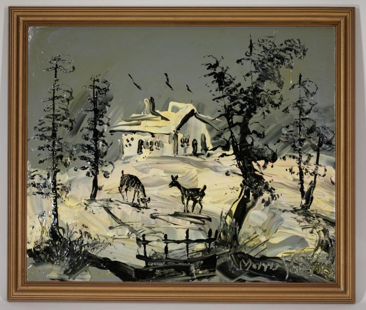 Morris katz original oil on board painting Paintings that are worth a lot of money