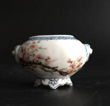 Chinese Famille Rose Floral Brush Washer, Marked
