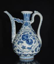 Chinese Blue/White Porcelain Ewer