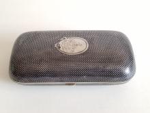 Large 19C Russian Silver Niello Cigarette Case