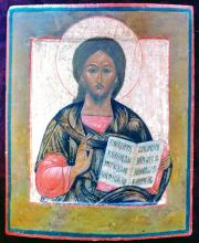 Antique 18c Russian icon of Christ the Teacher