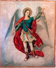 Antique 19c Large Icon Of st.Michael