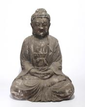 Chinese Carved Wood Buddha
