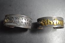 Pair of Chinese 925 Silver Bangles