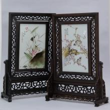 2 Pieces of Chinese Rectangular Plaques