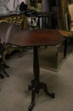 Small Side Table Mohagony w/ Top Folding -19th C.