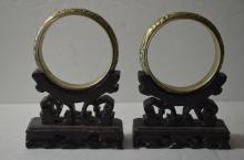 Pair of Chinese Bangle, Marked