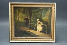 Framed German O/C of Gentleman Hunter