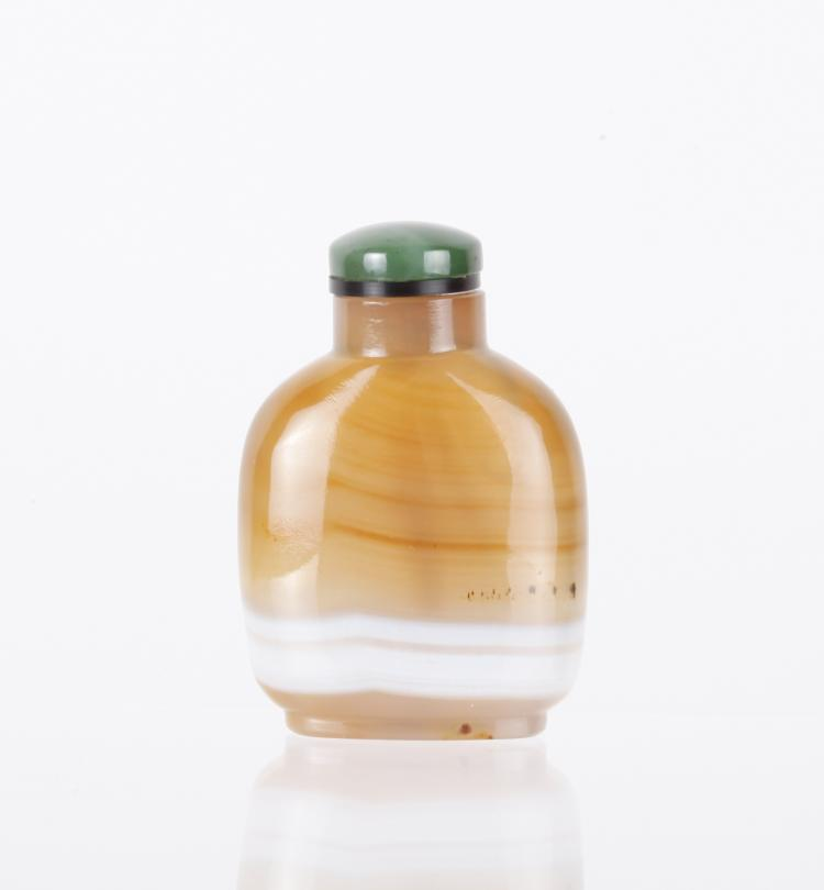 18th C. Chinese Banded Agate Snuff Bottle