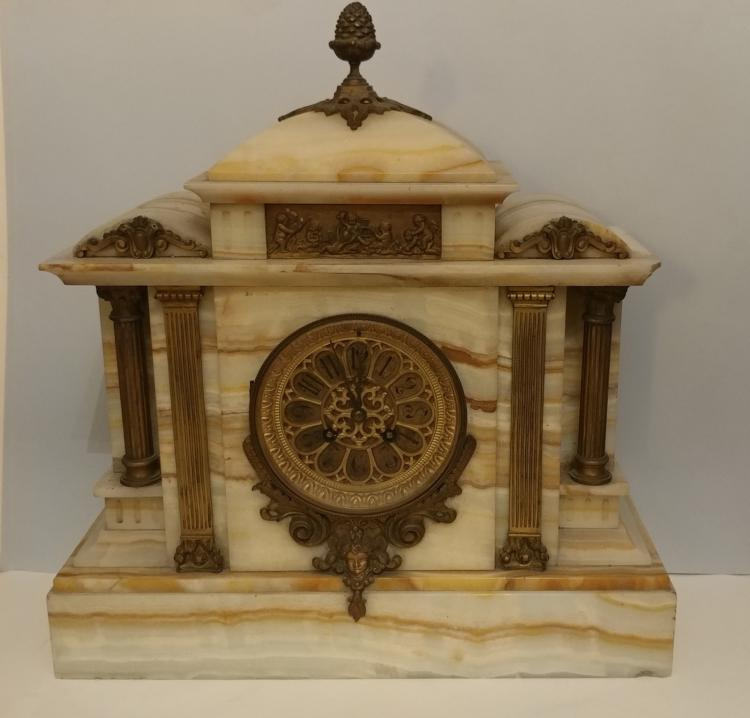 Antique marble mantel clock with bronze gilding - Antique clock designs for your home ...
