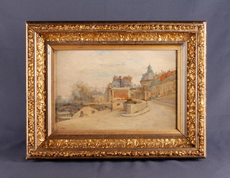 Remy E. Landeau. Oil on Board w/ Gold Leaf Frame