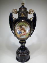Huge antique Czechoslovakian porcelain urn