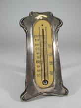 Antique English silver mercury thermometer