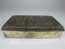 Vintage French metal cigar box