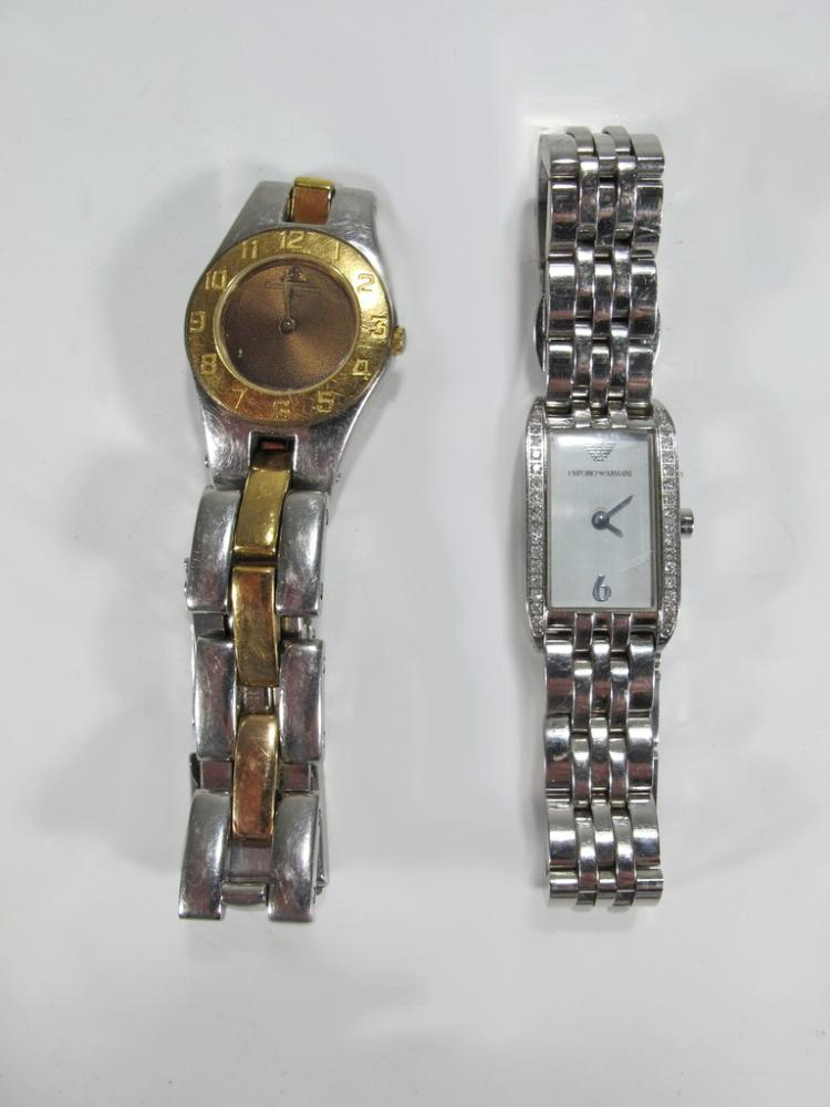 Stainless Steel Baume & Mercier& Emporio Armani Lady's watches