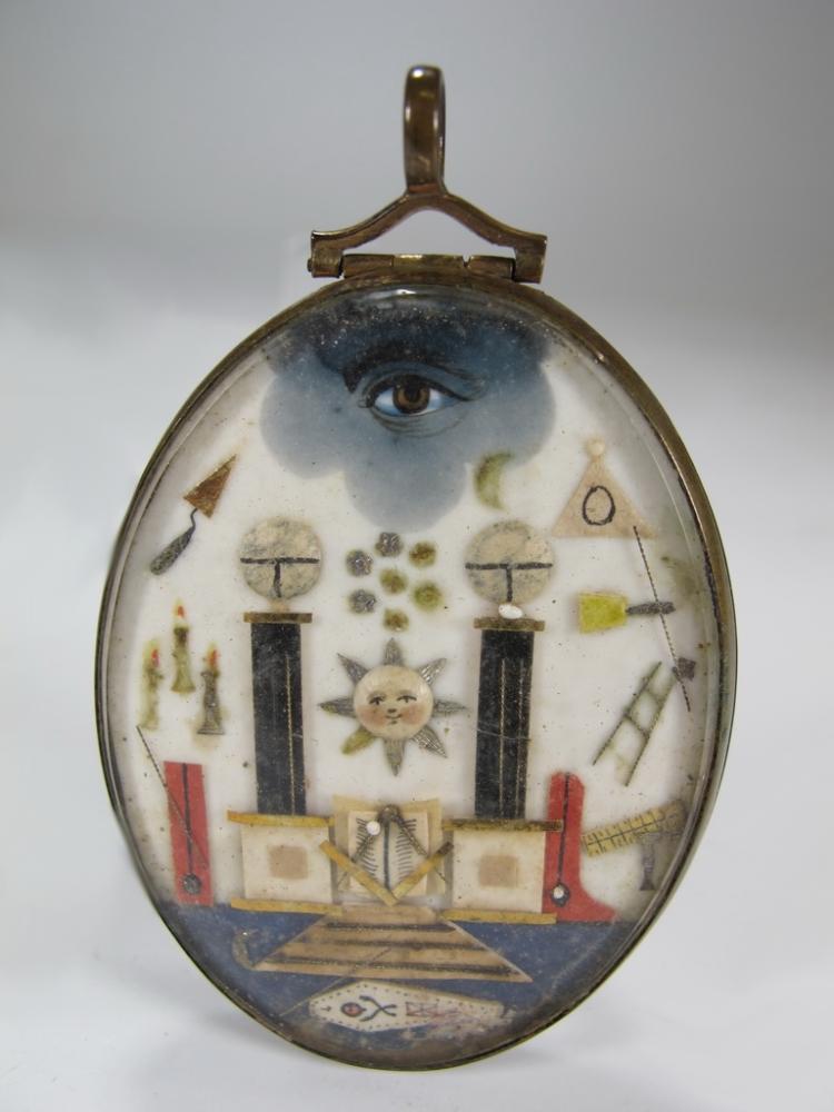 Antique French Masonic Prisoner of war Jewel