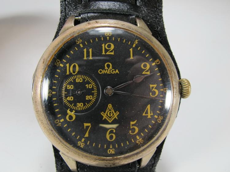 Antique Masonic Omega Grand Prix 1900 wrist watch