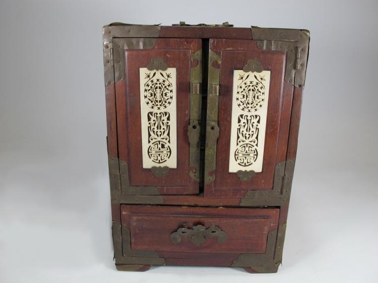 - Antique Chinese Miniature Jewelry Cabinet