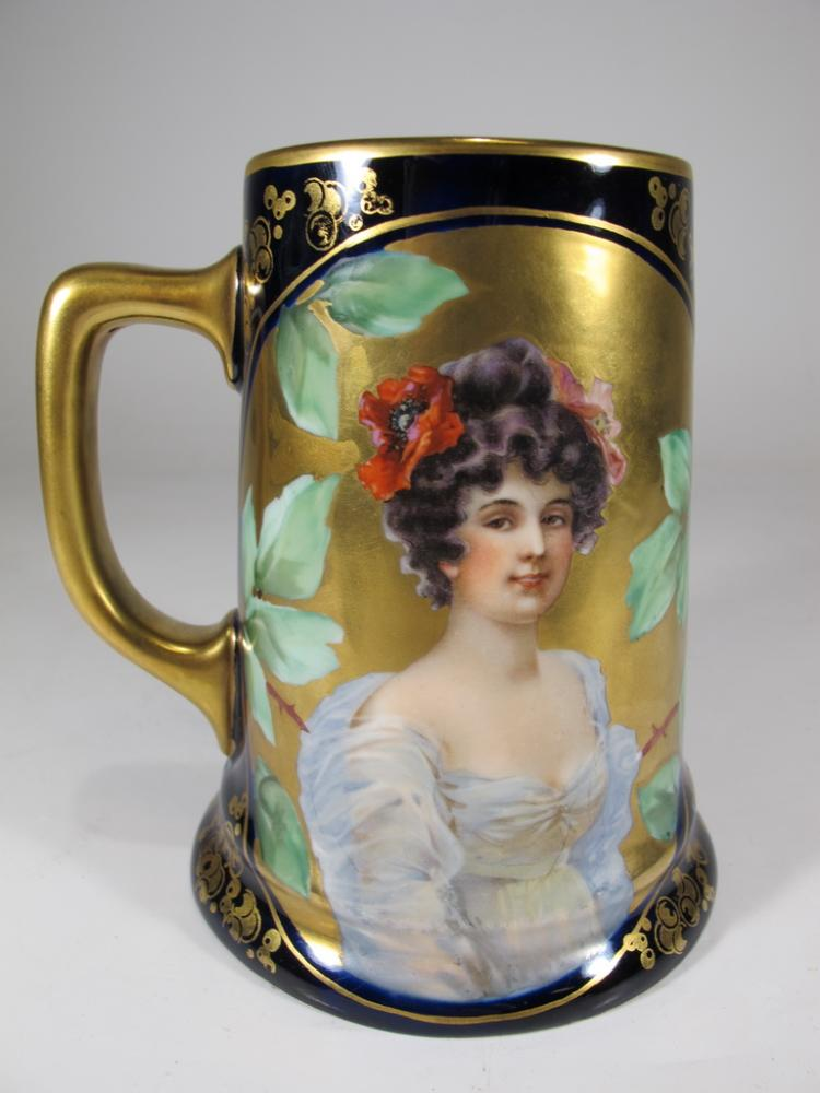 Antique Vienna, Austria painted porcelain cup